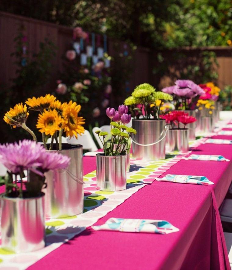deco mesa colores comida jardin