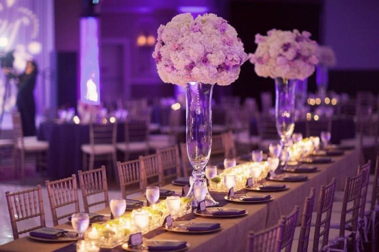 mesa boda decorada color lila