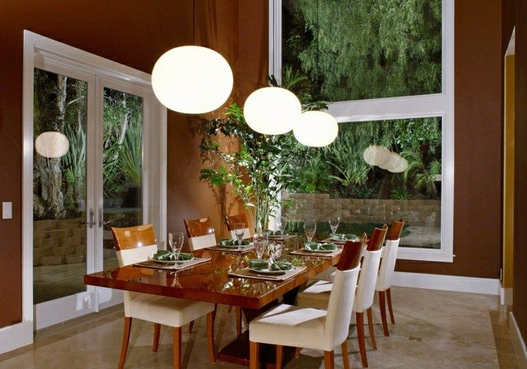 Muebles de comedor de colores oscuros 50 ideas for Comedores de madera y vidrio