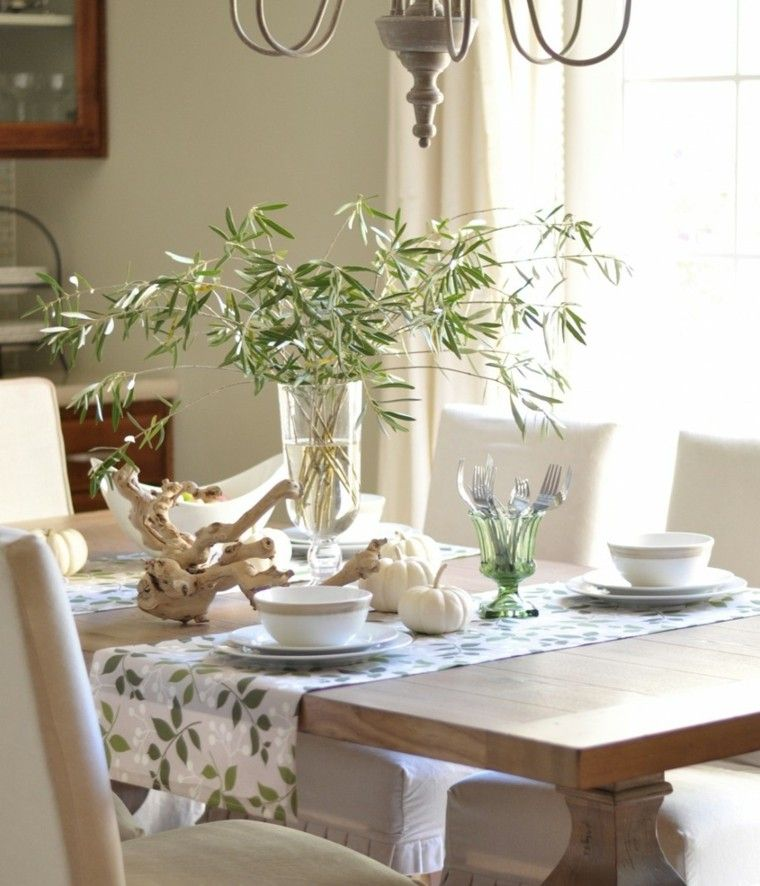 mesa decorada estilo natural