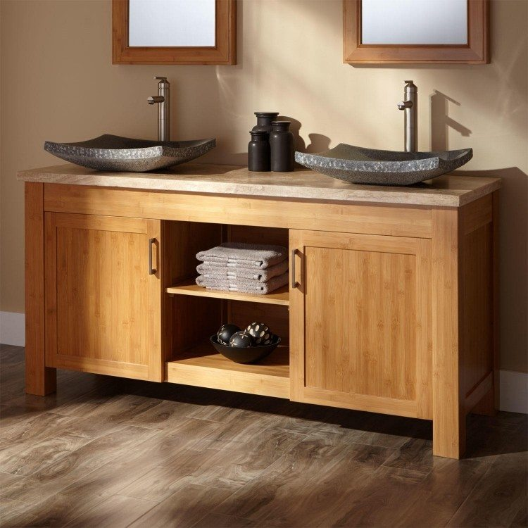 mesa lavabo ideas decoracion madera