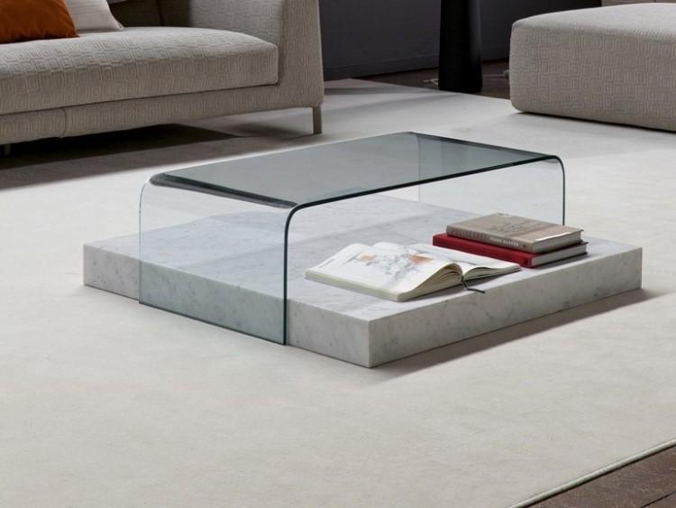 mesilla salón vidrio mármol