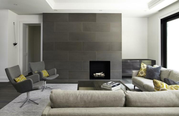 metales interiores casas concreto grises