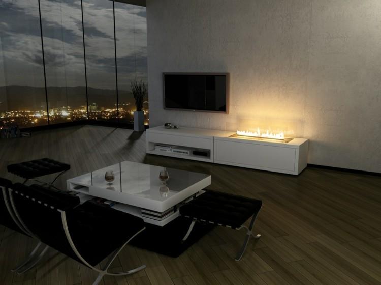 metales interiores casas otoño televisor
