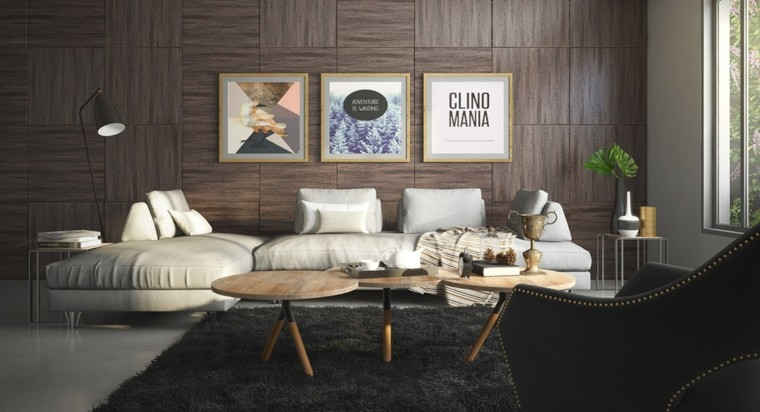 moderno colorido diseño maderas rayas cuadros