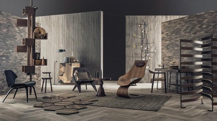 madera metales diferente silla diseño