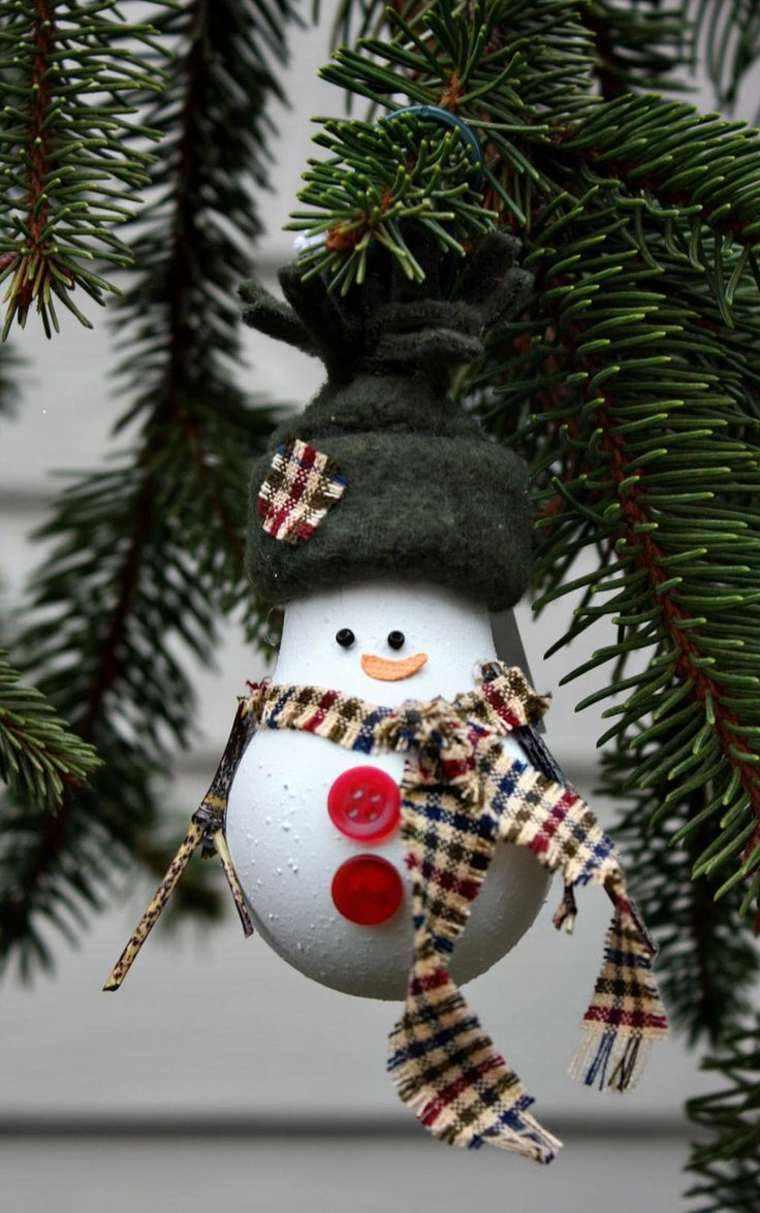 muñeco nieve bombilla vieja adorno