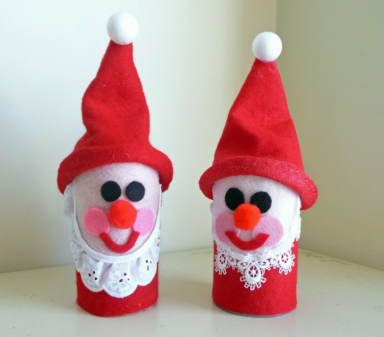 navidad manualidades faciles conos coloridos rojo