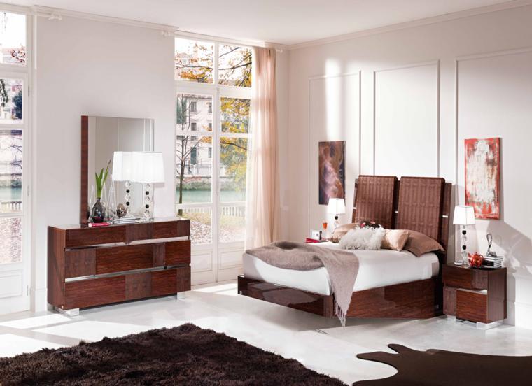 muebles dormitorio madera lacada estilo retro
