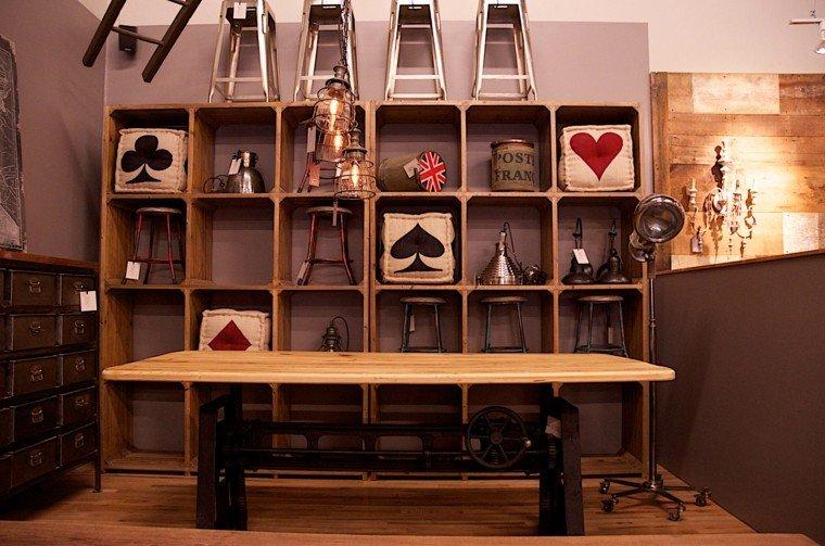 mueble biblioteca estilo retro