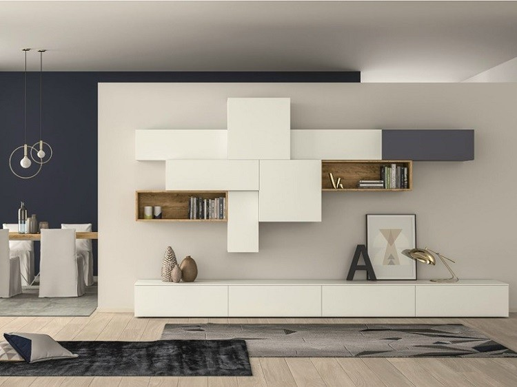 Muebles modernos para salas de estar dise os con estilo - Mueble modular salon ...