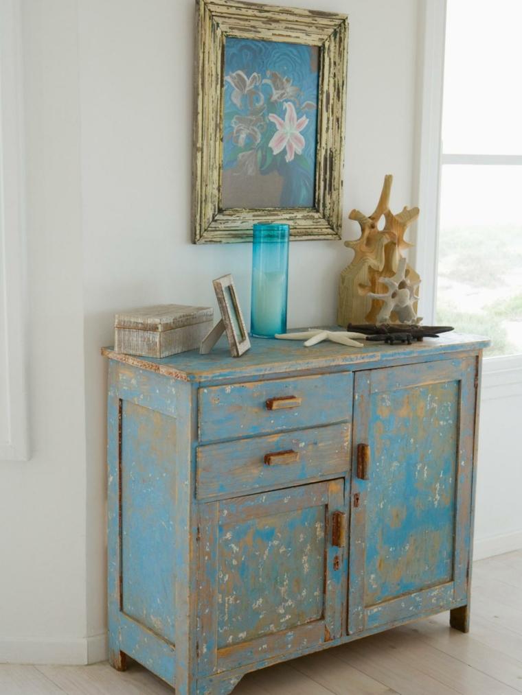 mueble recibidor pintado estilo vintage