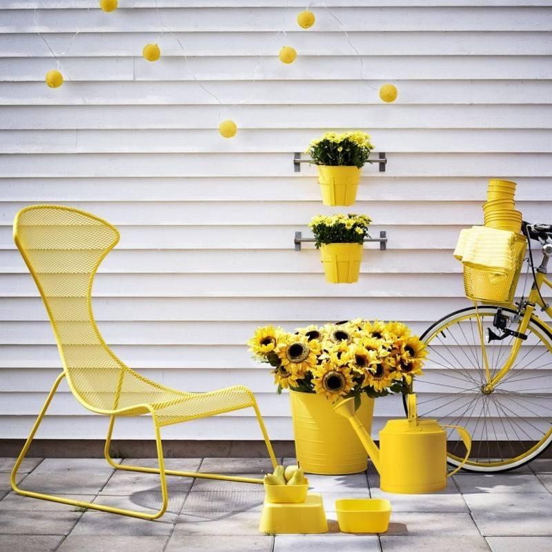muebles balcon terraza bonitos moderna amarillo ideas