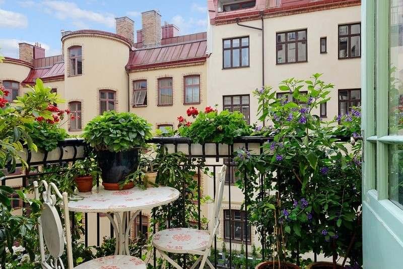 muebles balcon terraza bonitos moderna estampado ideas