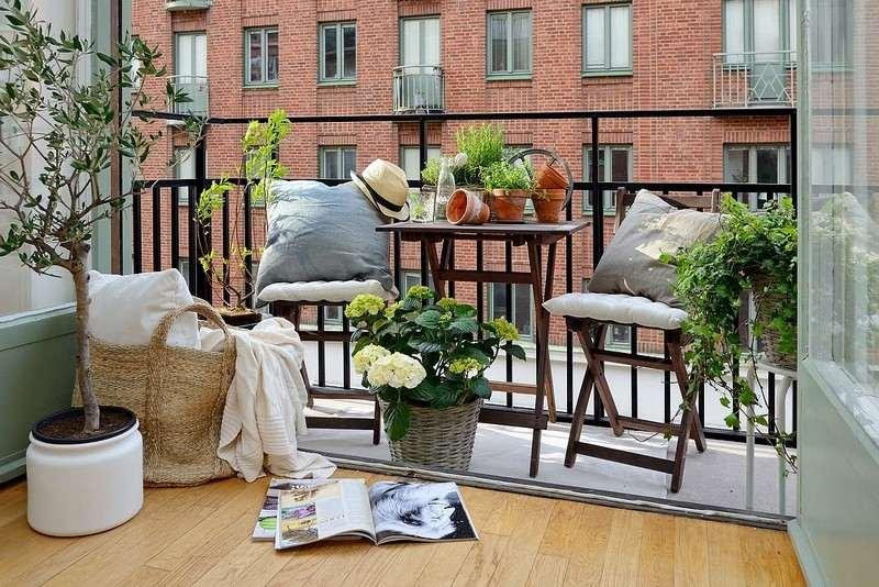 muebles balcon terraza bonitos moderna flores plantas ideas