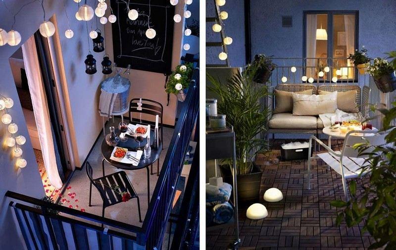 muebles balcon terraza bonitos moderna lamparas preciosas ideas