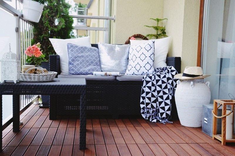 muebles balcon terraza bonitos moderna mesa sofa ideas