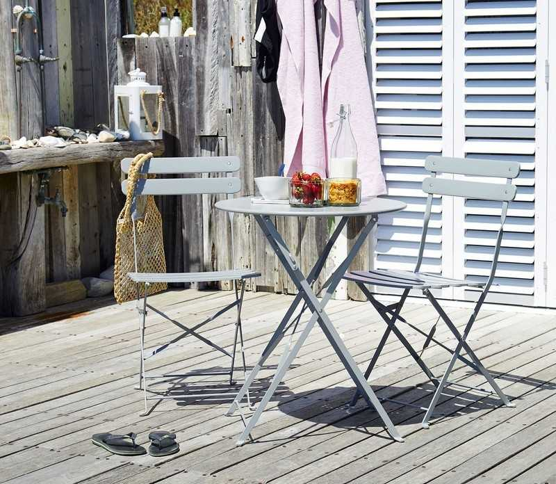 muebles balcon terraza bonitos moderna plegables color gris ideas