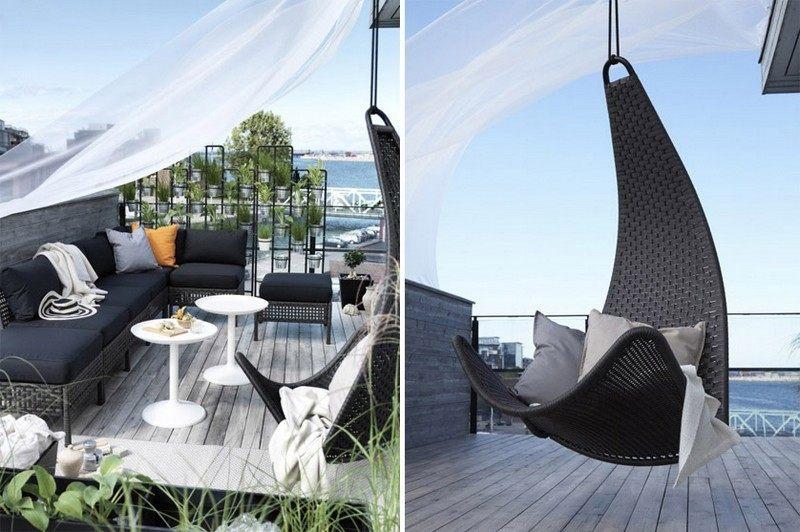 Muebles bonitos para el balc n o la terraza moderna - Mesa colgante para balcon ...