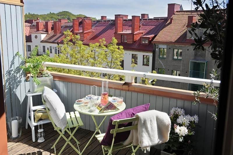 muebles balcon terraza bonitos moderna verde claro ideas