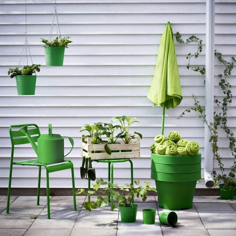 muebles balcon terraza bonitos moderna verde ideas