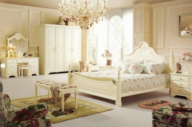 muebles blancos dormitorio decoracion estilo vintage ideas