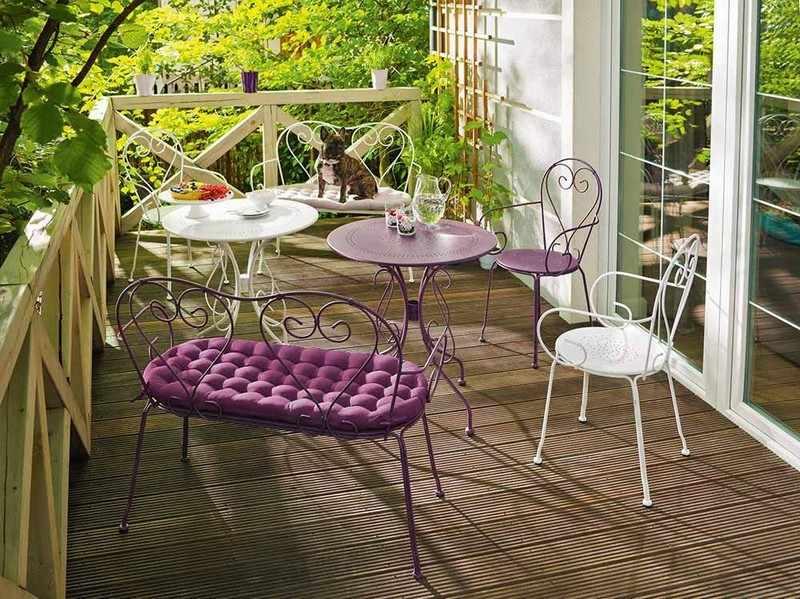 muebles bonitos balcon terraza moderna banco acero ideas