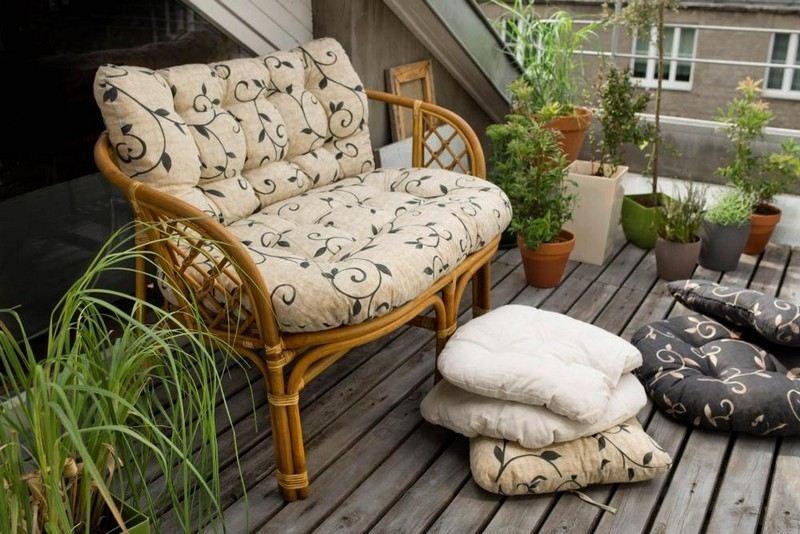 muebles bonitos balcon terraza moderna banco bambu ideas