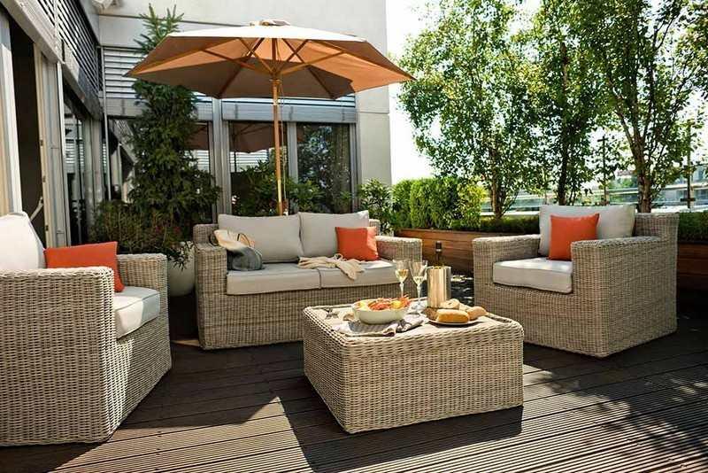 muebles bonitos balcon terraza moderna comodos rattan ideas