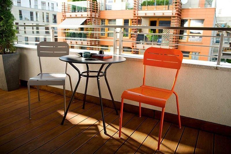 muebles bonitos balcon terraza moderna distintos colores ideas