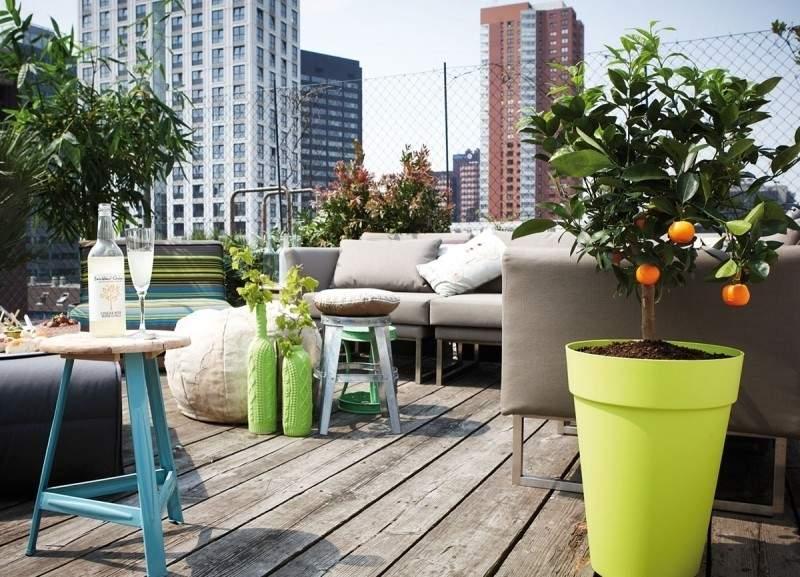 muebles bonitos balcon terraza moderna macetas preciosas ideas