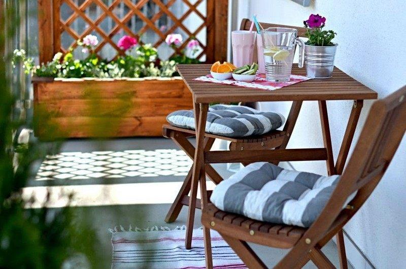 muebles bonitos balcon terraza moderna madera marron ideas
