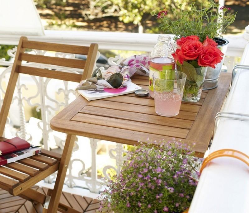 muebles bonitos balcon terraza moderna madera teca ideas