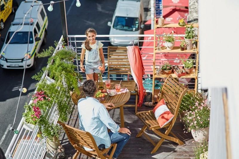 muebles bonitos balcon terraza moderna sillas bonitas ideas
