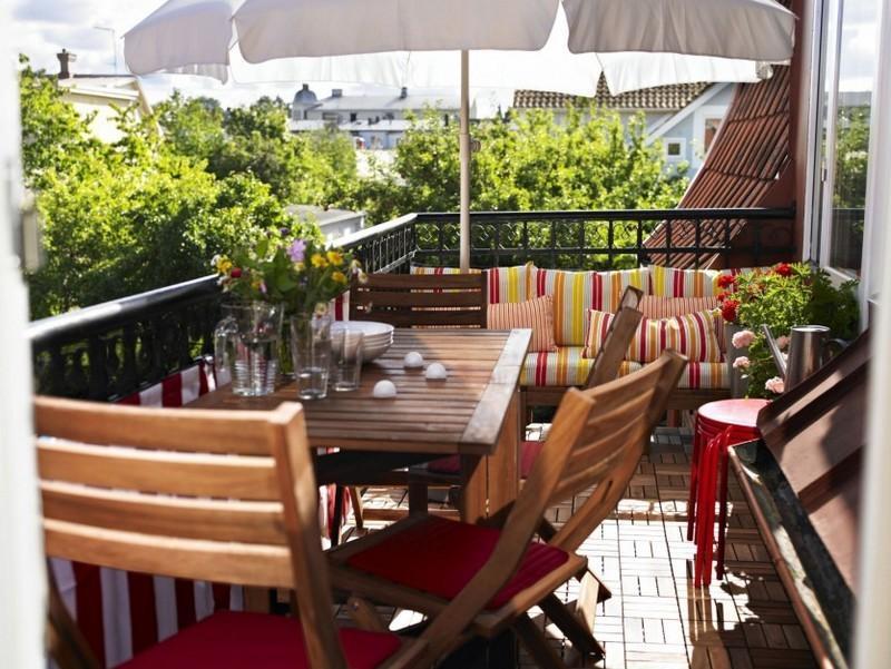 muebles bonitos balcon terraza moderna sillas mesa banco ideas