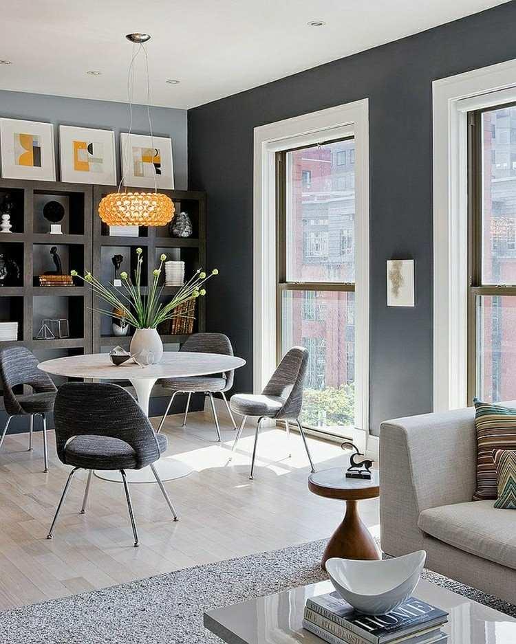 diseño muebles comedor color gris