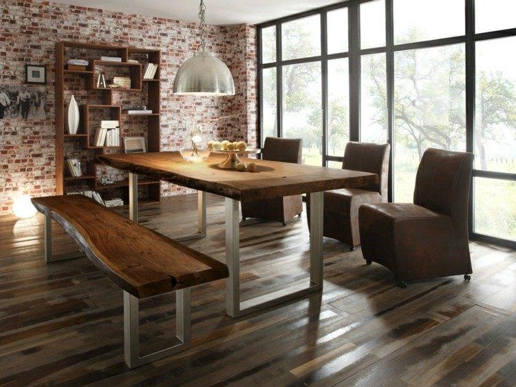 Muebles de comedor de colores oscuros 50 ideas for Comedor de muebles de madera blanca