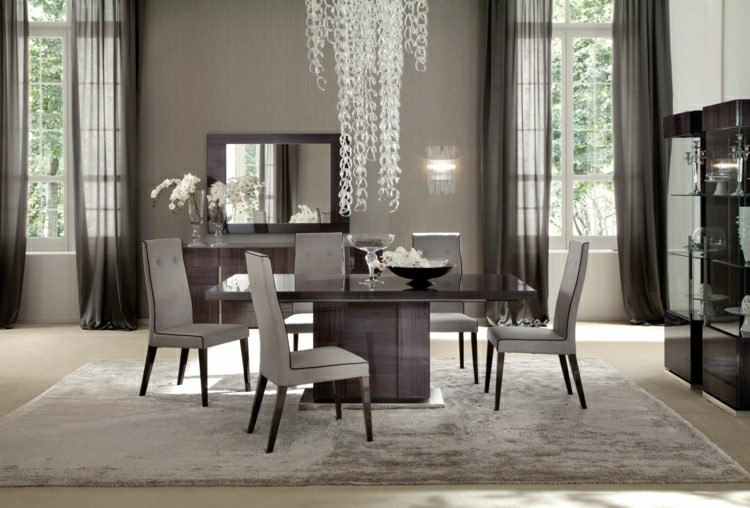 muebles comedor sillas modernas grises