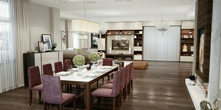muebles comedor color granate terciopelo