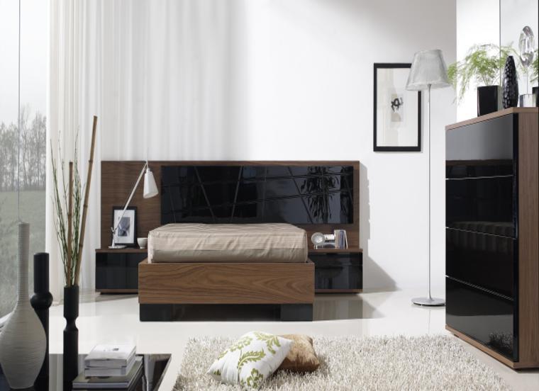 muebles conjunto negro color lacado