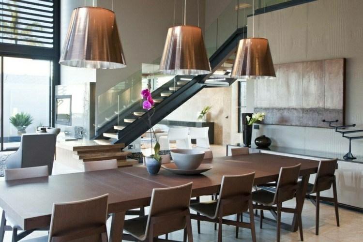 muebles comedor marrones madera