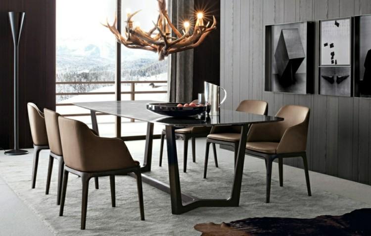 muebles de comedor mesa cuernos