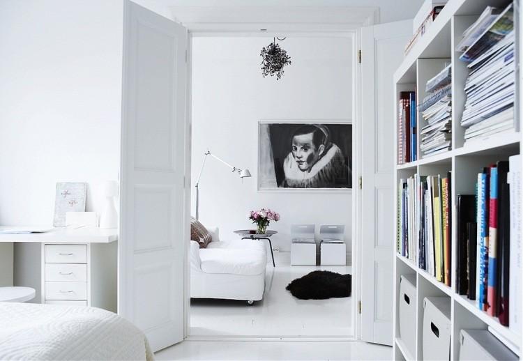 muebles de salon blanco escritorio ideas