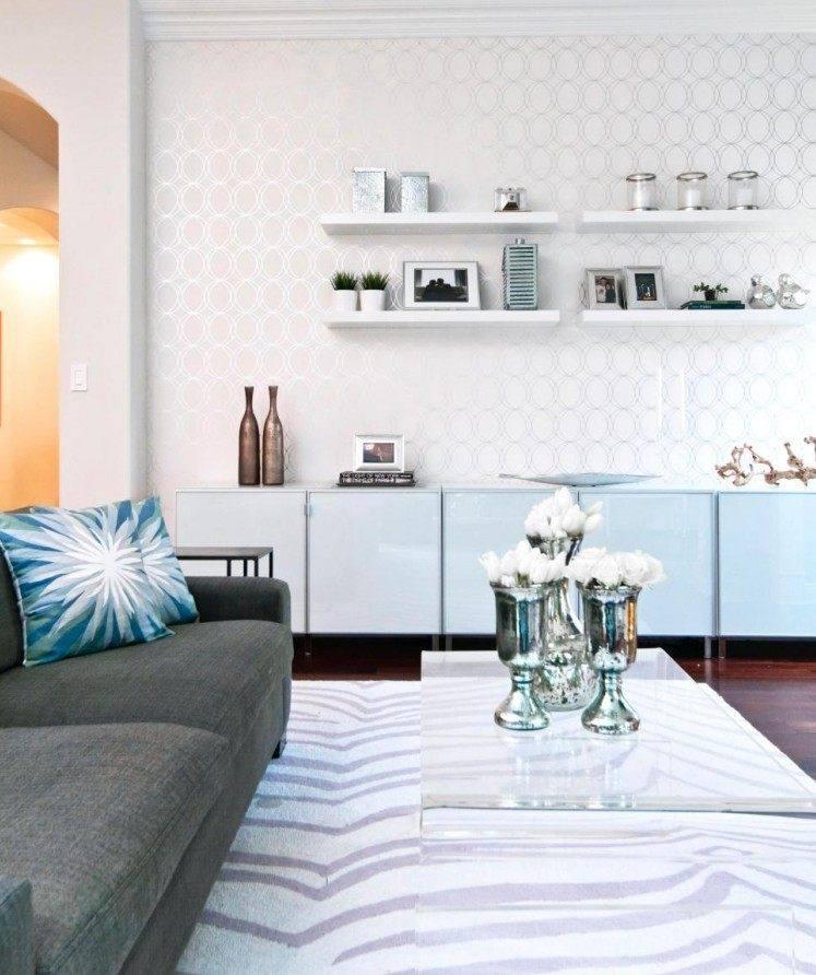 muebles-de-salon-blanco-estantes-pared