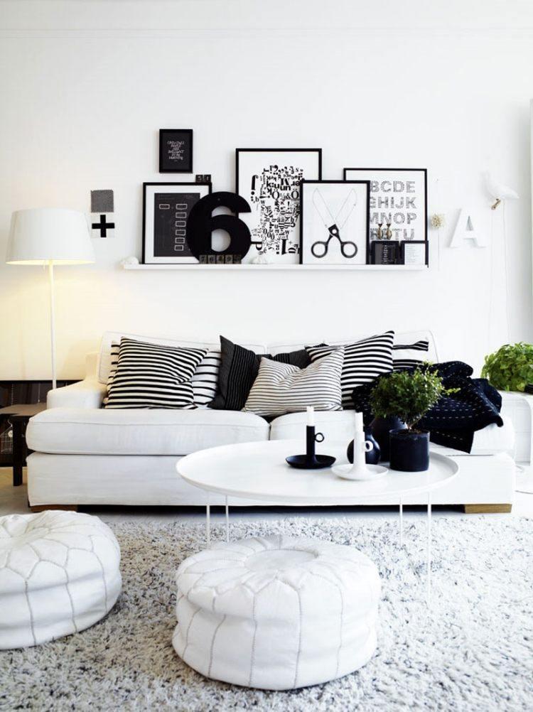 muebles de salon blanco estilo escandinavo ideas