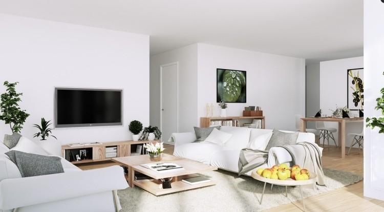 muebles de salón blanco mesa madera ideas