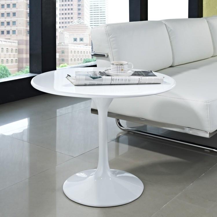 muebles de salón blanco mesa sofa ideas