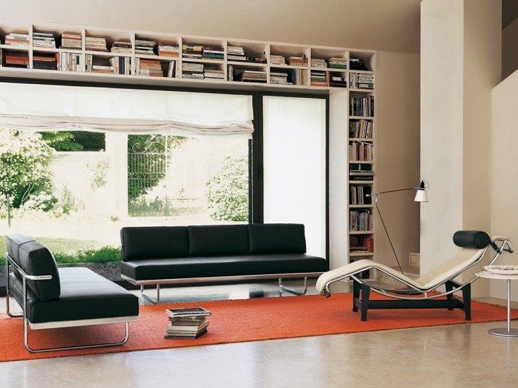 muebles de salón blanco negro sofa sollon ideas