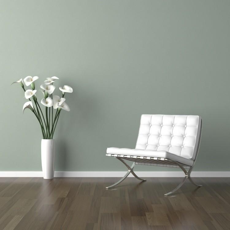 muebles de salón blanco sillon jarron ideas