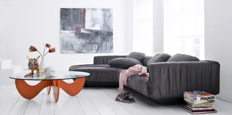 muebles de salon blanco sofa mesa ideas